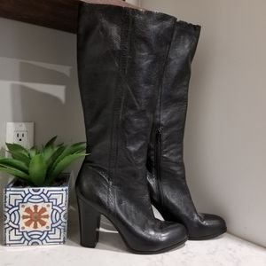 👢 NINE WEST KNEE HIGH LEATHER BOOTS